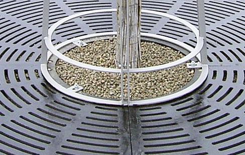 Baumroste, rund- Radialdesign